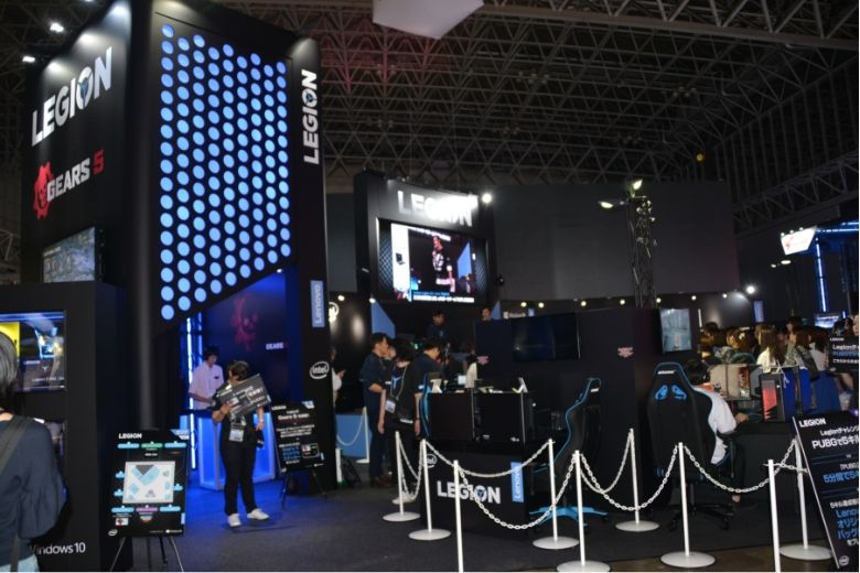 東京ゲームショウ2019 レノボ・ジャパン ブース全体