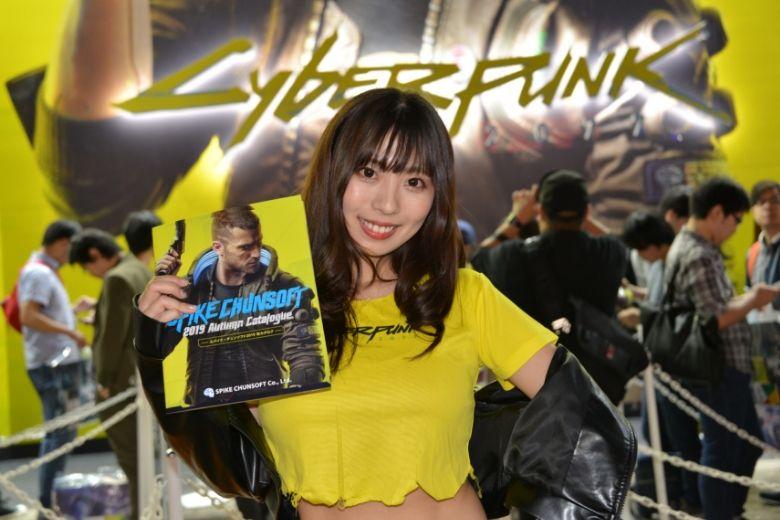 東京ゲームショウ2019 サイバーパンク2077 コンパニオン