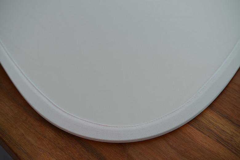 三角レフ板の白面の質感