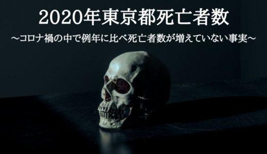2020年東京都死亡者数~コロナ禍の中で例年に比べ死亡者数が増えていない事実~