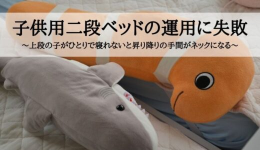 子供用二段ベッドの運用に失敗~上段の子がひとりで寝れないと昇り降りの手間がネックになる~