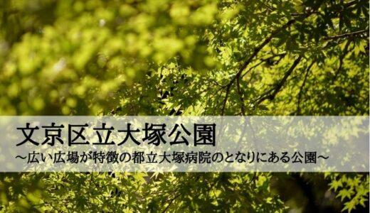 文京区立大塚公園~広い広場が特徴の都立大塚病院のとなりにある公園~