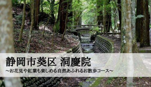 静岡市葵区 洞慶院~お花見や紅葉も楽しめる自然あふれるお散歩コース~