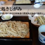 蕎麦処きしがみ~静岡市宇津ノ谷にある旧東海道の雰囲気がある人気店~
