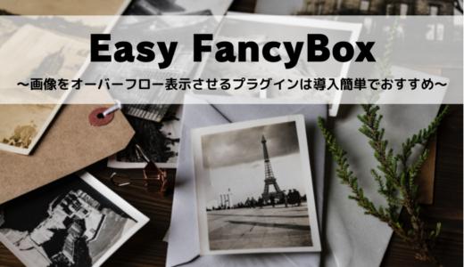 Easy FancyBox~画像をオーバーフロー表示させるプラグインは導入簡単でおすすめ~